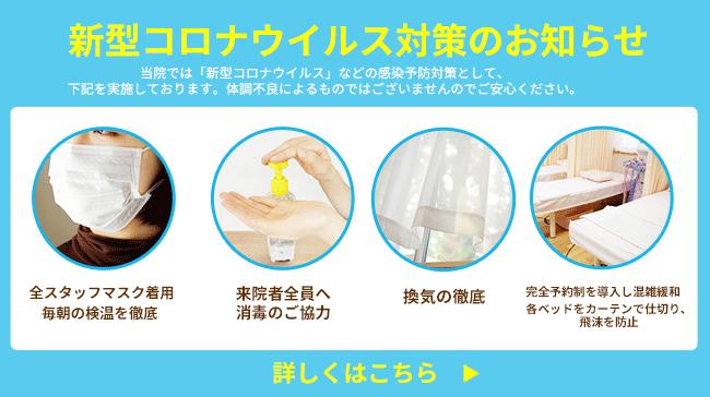 葵堂グループのコロナウイルス対策について